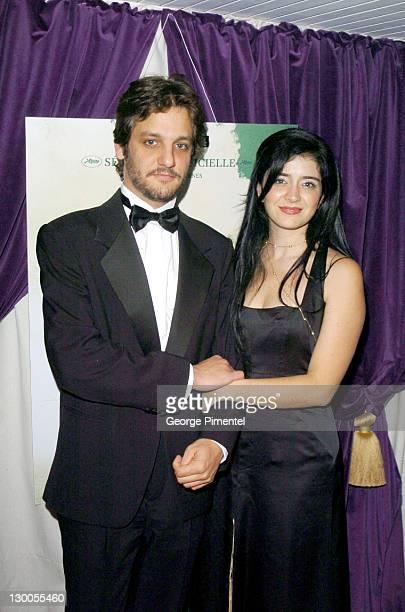 Rodrigo De La Serna and Erica Rivas during 2004 Cannes Film Festival Motorcycle Diaries Party at La Plage Coste in Cannes France