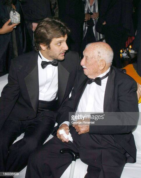 Rodrigo De La Serna and guest during 2004 Cannes Film Festival Motorcycle Diaries Party at La Plage Coste in Cannes France