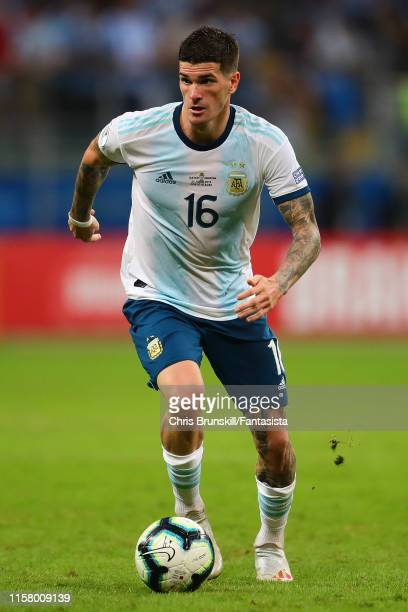 Rodrigo De Paul of Argentina in action during the Copa America Brazil 2019 group B match between Qatar and Argentina at Arena do Gremio on June 23...