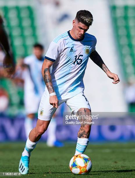 Rodrigo De Paul of Argentina in action during the international friendly match between Ecuador and Argentina at Estadio Manuel Martinez Valero on...