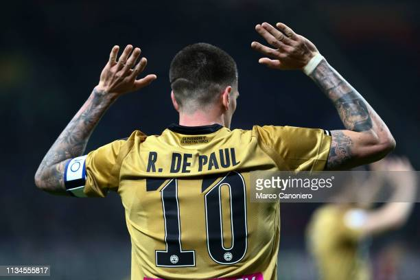 Rodrigo de Paul of Udinese Calcio during the Serie A football match between Ac Milan and Udinese Calcio. The match ends in a tie 1-1.