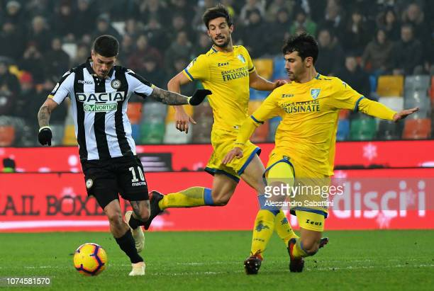 Rodrigo De Paul of Udinese Calcio in action during the Serie A match between Udinese and Frosinone Calcio at Stadio Friuli on December 22 2018 in...
