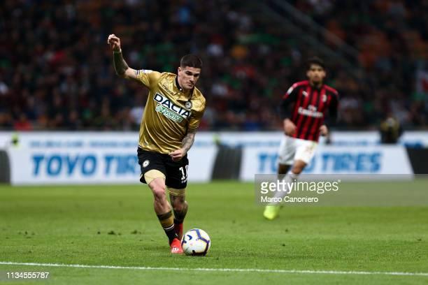 Rodrigo de Paul of Udinese Calcio in action during the Serie A football match between Ac Milan and Udinese Calcio. The match ends in a tie 1-1.