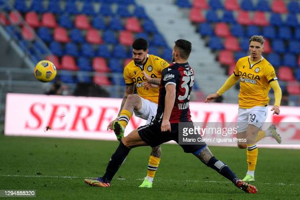 Rodrigo De Paul of Udinese Calcio in action during the Serie A match between Bologna FC and Udinese Calcio at Stadio Renato Dall'Ara on January 06,...