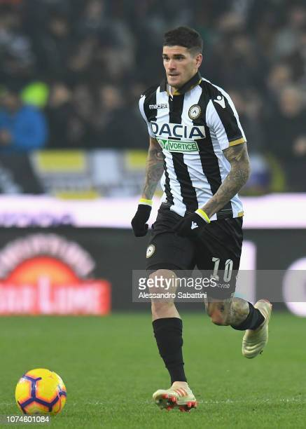 Rodrigo De Paul of Udinese Calcio in actionduring the Serie A match between Udinese and Frosinone Calcio at Stadio Friuli on December 22 2018 in...