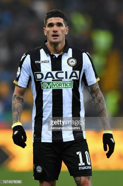 Rodrigo De Paul of Udinese Calcio looks on during the Serie A match between Udinese and Frosinone Calcio at Stadio Friuli on December 22 2018 in...