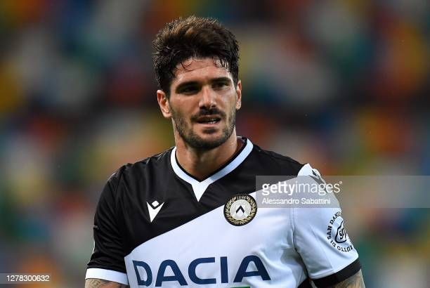 Rodrigo de Paul of Udinese Calcio looks on during the Serie A match between Udinese Calcio and AS Roma at Dacia Arena on October 03, 2020 in Udine,...