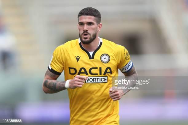 Rodrigo De Paul of Udinese during the Serie A match between FC Crotone and Udinese Calcio at Stadio Comunale Ezio Scida on April 17, 2021 in Crotone,...