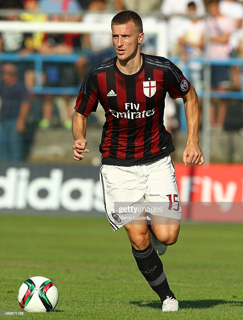 Rodrigo Ely of AC Milan in action during the preseason friendly match between AC Milan and Legnano on July 14, 2015 in Solbiate Arno, Italy.