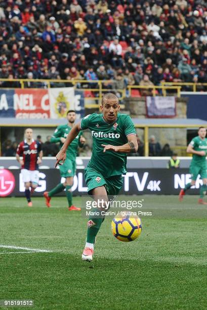 Rodrigo Farias of ACF Fiorentina in action during the serie A match between Bologna FC and ACF Fiorentina at Stadio Renato Dall'Ara on February 4...