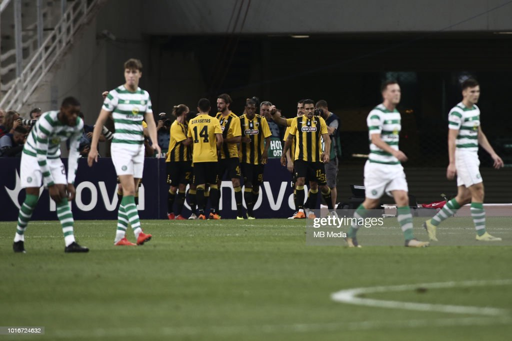 AEK Athens v Celtic - UEFA Champions League Third Round Qualifying Match