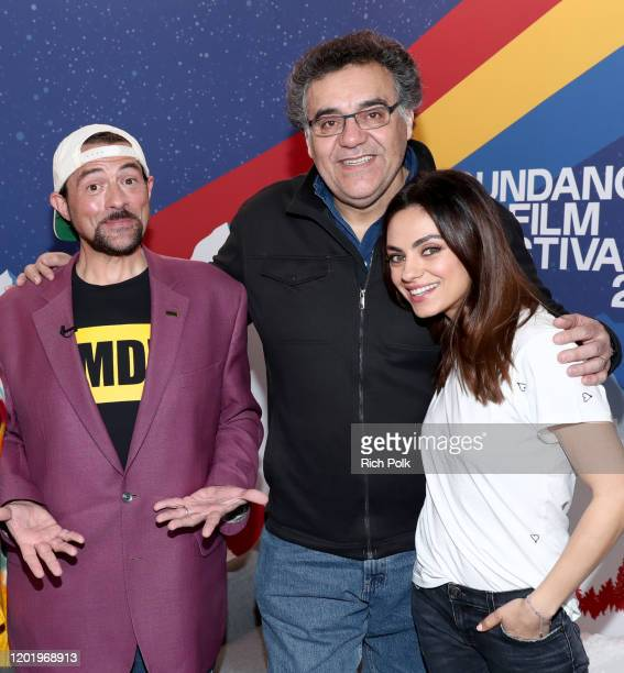 Rodrigo Garcia and Mila Kunis of 'Four Good Days' and Kevin Smith attend the IMDb Studio at Acura Festival Village on location at the 2020 Sundance...