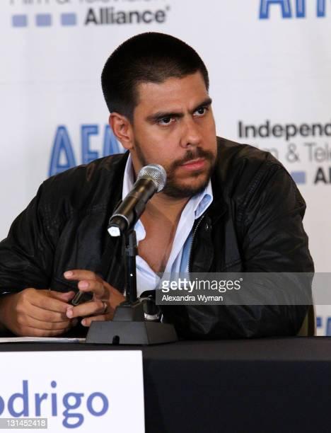 Rodrigo Guerrero Rojas Producer Maria Full of Grace Contracorriente La Cara Oculta speaks onstage during the 2011 American Film Market Day 3 The...