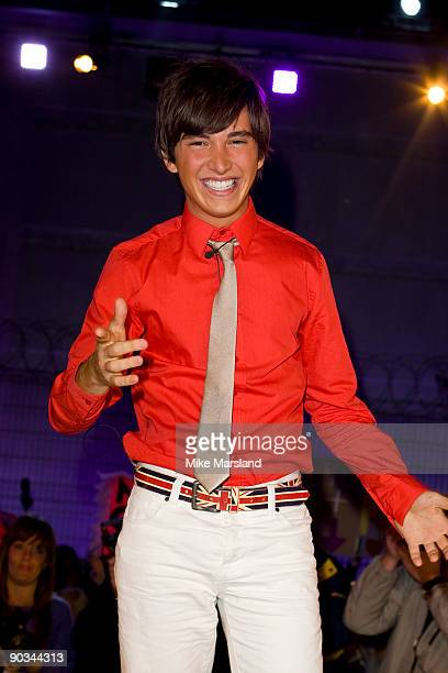 BOREHAMWOOD ENGLAND Rodrigo is evicted during the Final of this year's Big Brother 10 at Elstree Studios on September 4 2009 in Borehamwood England