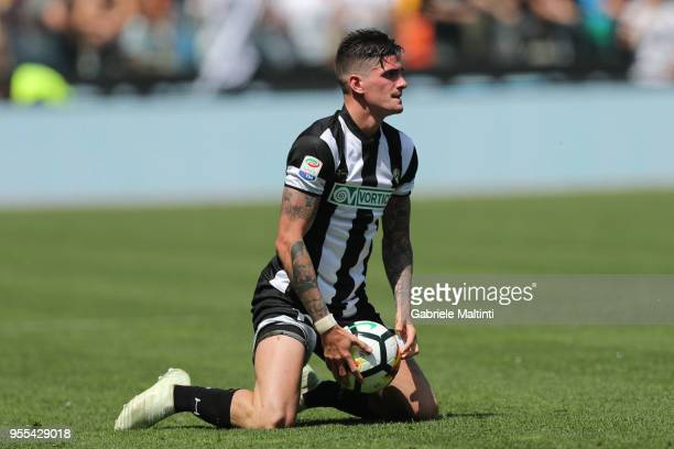 Rodrigo Javier De Paul of Udinese Calcio shows his dejection during the serie A match between Udinese Calcio and FC Internazionale at Stadio Friuli...