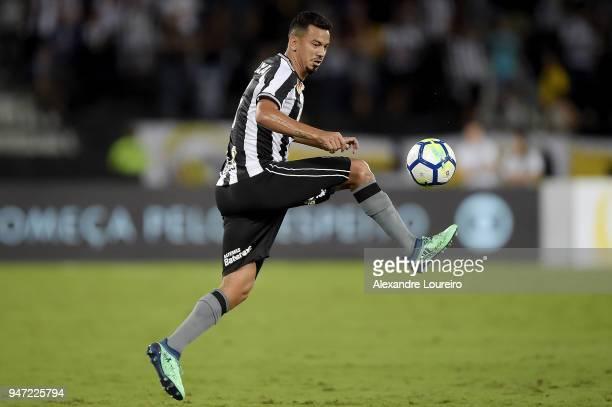 Rodrigo Lindoso of Botafogo in action during the match between Botafogo and Palmeiras as part of Brasileirao Series A 2018 at Engenhao Stadium on...