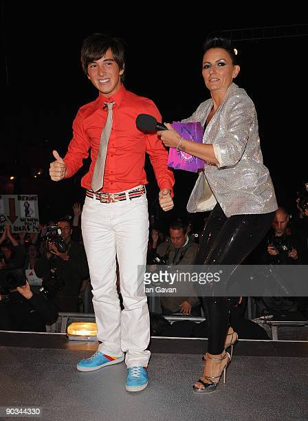 Rodrigo Lopes is evicted during the Final of this year's Big Brother 10 at Elstree Studios on September 4 2009 in Borehamwood England