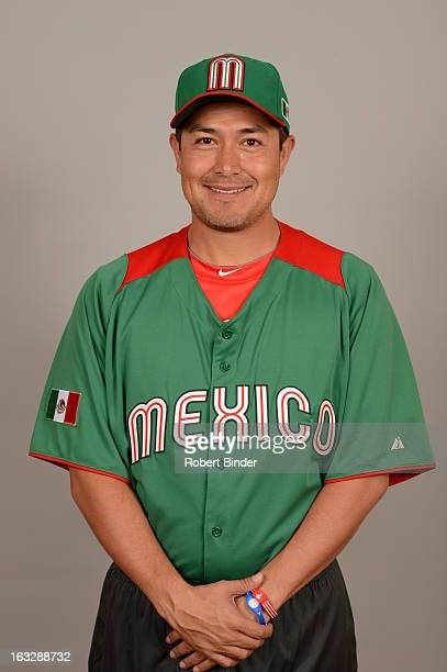 Rodrigo Lopez of Team Mexico poses for a headshot for the 2013 World Baseball Classic on Monday March 4 2013 at Camelback Ranch in Glendale Arizona
