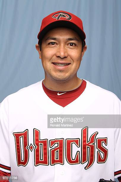 Rodrigo Lopez of the Arizona Diamondbacks on February 27 2010 in Tucson Arizona