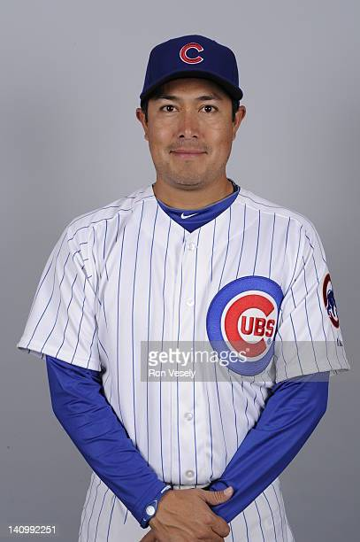 Rodrigo Lopez of the Chicago Cubs poses during Photo Day on Monday February 27 2012 at Hohokam Stadium in Mesa Arizona