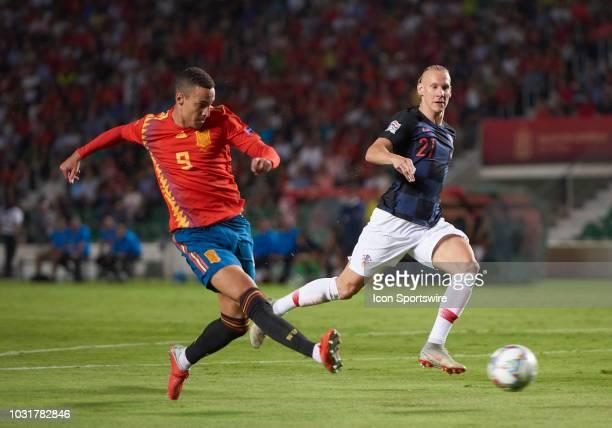 Rodrigo Moreno forward of Spain goal the UEFA Nations League A Group four match between Spain and Croatia on September 11 at Estadio Manuel Martinez...