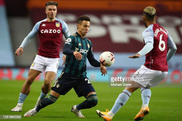 Rodrigo Moreno of Leeds United during the Premier League match between Aston Villa and Leeds United at Villa Park on October 23 2020 in Birmingham...