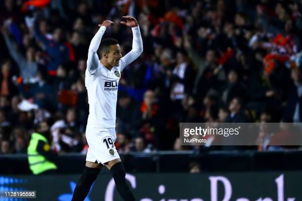 Rodrigo Moreno of Valencia CF celebrate after scoring the 10 goal During Spanish King La Copa match between Valencia cf vs Real Betis Balompie Second...
