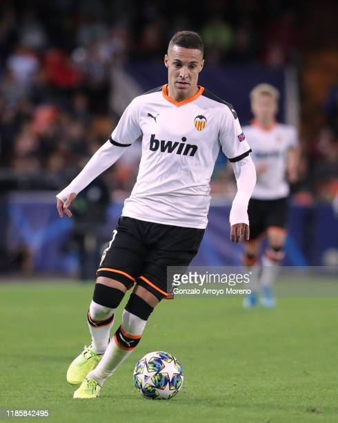 Rodrigo Moreno of Valencia CF controls the ball during the UEFA Champions League group H match between Valencia CF and Lille OSC at Estadio Mestalla...