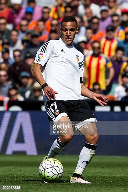 17 Rodrigo Moreno of Valencia CF during La Liga match between Valencia CF and Sevilla CF at Mestalla Stadium in Valencia on April 10 2016