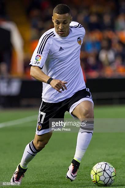 Rodrigo Moreno of Valencia CF during La Liga match between Valencia CF and SD Eibar at Mestalla Stadium where Valencia beats SD Eibar in 40 score
