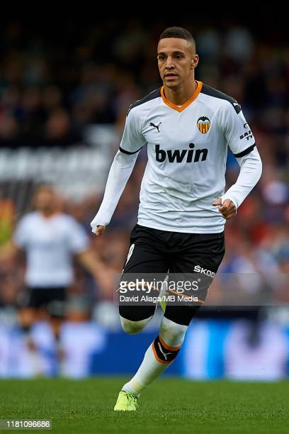 Rodrigo Moreno of Valencia CF in action during the Liga match between Valencia CF and Granada CF at Estadio Mestalla on November 9, 2019 in Valencia,...