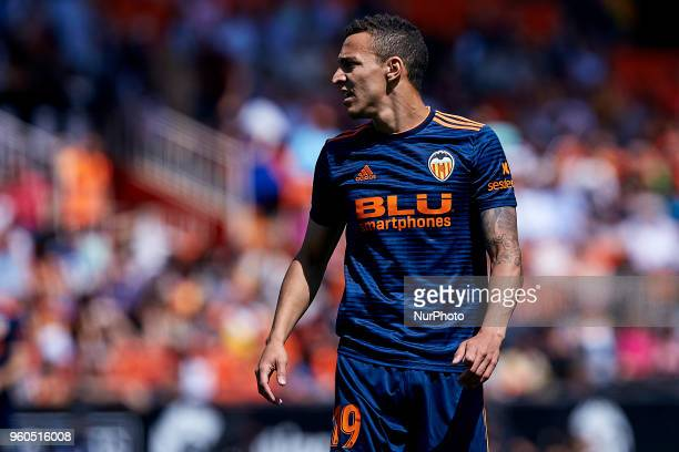 Rodrigo Moreno of Valencia CF looks on during the La Liga game between Valencia CF and Deportivo de la Coruna at Mestalla on May 20 2018 in Valencia...