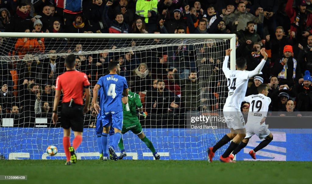 Valencia v Getafe - Copa del Rey Quarter Final : ニュース写真