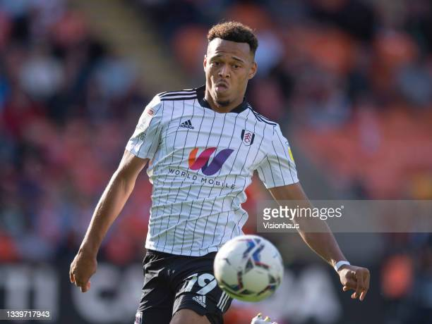 Rodrigo Muniz of Fulham during the Sky Bet Championship match between Blackpool and Fulham at Bloomfield Road on September 11, 2021 in Blackpool,...