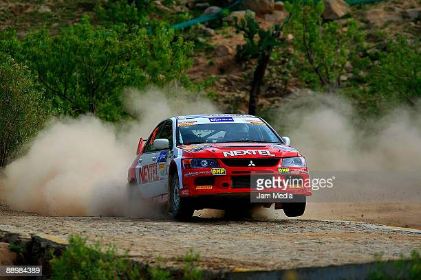 Rodrigo Ordonez and Mauricio Pimentel of Mexico in action during the second day of the Rally of Nations Mexico 2009 on July 11 2009 in Leon Mexico