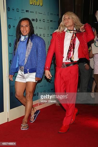 Rodrigo Oviedo and Gerardo Taracena attend the Volando Bajo Mexico City premiere at Cinepolis Diana on June 16 2014 in Mexico City Mexico
