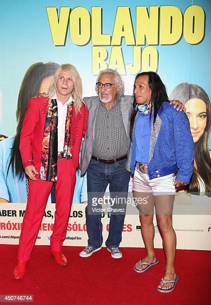 Rodrigo Oviedo Rafael Inclán and Gerardo Taracena attend the Volando Bajo Mexico City premiere at Cinepolis Diana on June 16 2014 in Mexico City...