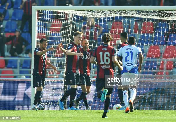 Rodrigo Palacio of Bologna FC celebrates after scoring the opening goal during the Serie A match between Bologna FC and UC Sampdoria at Stadio Renato...