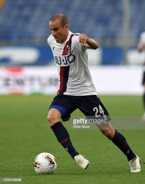 Rodrigo Palacio of Bologna FC during the Serie A match between UC Sampdoria and Bologna FC at Stadio Luigi Ferraris on June 28 2020 in Genoa Italy