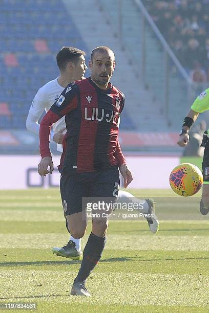 Rodrigo Palacio of Bologna FC in actio during the Serie A match between Bologna FC and ACF Fiorentina at Stadio Renato Dall'Ara on January 06 2020 in...
