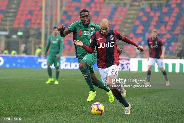 Rodrigo Palacio of Bologna FC in action during the Serie A match between Bologna FC and ACF Fiorentina at Stadio Renato Dall'Ara on November 25 2018...