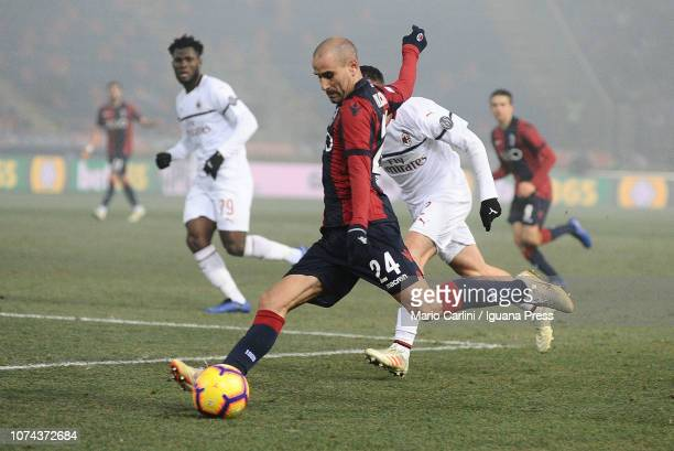 Rodrigo Palacio of Bologna FC in action during the Serie A match between Bologna FC and AC Milan at Stadio Renato Dall'Ara on December 18 2018 in...