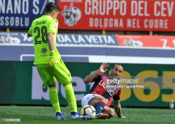 Rodrigo Palacio of Bologna FC in action during the Serie A match between Bologna FC and Cagliari at Stadio Renato Dall'Ara on March 10 2019 in...