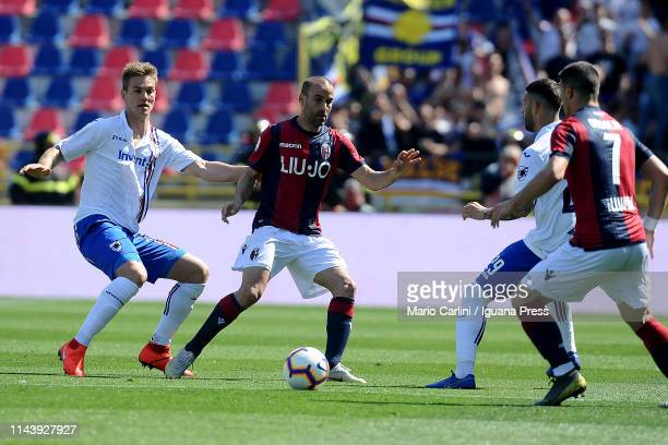 Rodrigo Palacio of Bologna FC in action during the Serie A match between Bologna FC and UC Sampdoria at Stadio Renato Dall'Ara on April 20 2019 in...