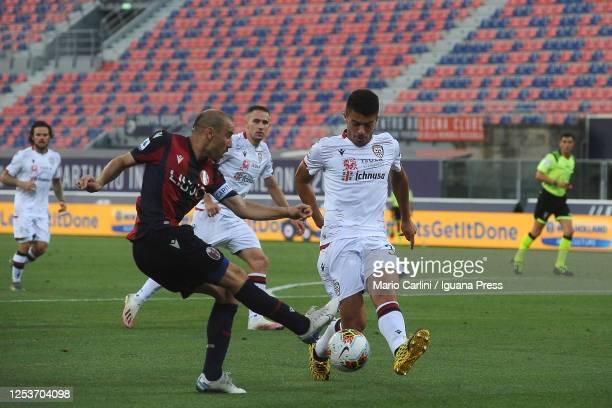Rodrigo Palacio of Bologna FC in action during the Serie A match between Bologna FC and Cagliari Calcio at Stadio Renato Dall'Ara on July 01 2020 in...