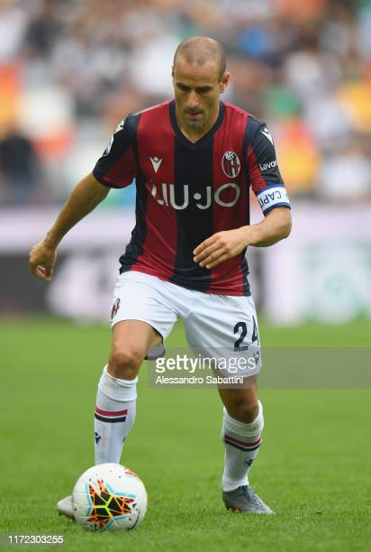Rodrigo Palacio of Bologna FC in action during the Serie A match between Udinese Calcio and Bologna FC at Stadio Friuli on September 29, 2019 in...