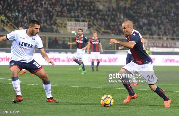 Rodrigo Palacio of Bologna FC in action the goal during the Serie A match between Bologna FC and FC Crotone at Stadio Renato Dall'Ara on November 4...
