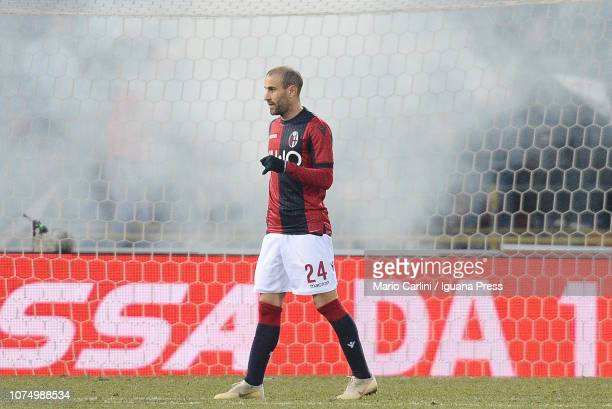 Rodrigo Palacio of Bologna FC looks on during the Serie A match between Bologna FC and SS Lazio at Stadio Renato Dall'Ara on December 26 2018 in...