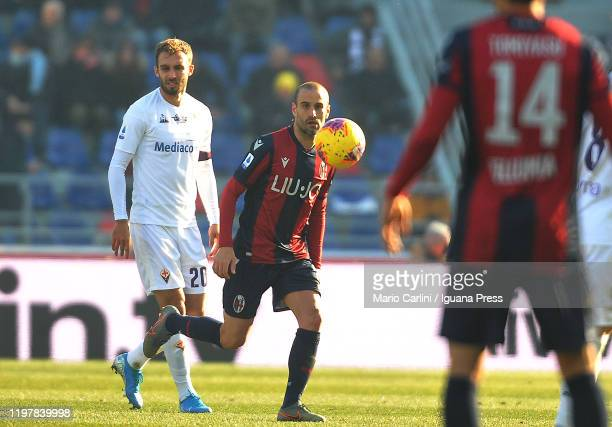 Rodrigo Palacio of Bologna FC looks on during the Serie A match between Bologna FC and ACF Fiorentina at Stadio Renato Dall'Ara on January 06 2020 in...