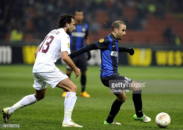 Rodrigo Palacio of FC Inter during the UEFA Europa League round of 32 first leg match between FC Internazionale Milano and CFR 1907 Cluj at San Siro...